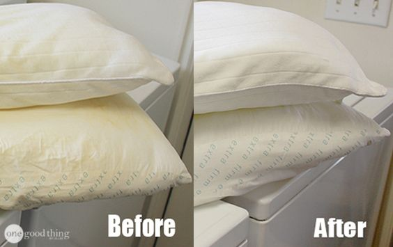 pillow cleaning hack