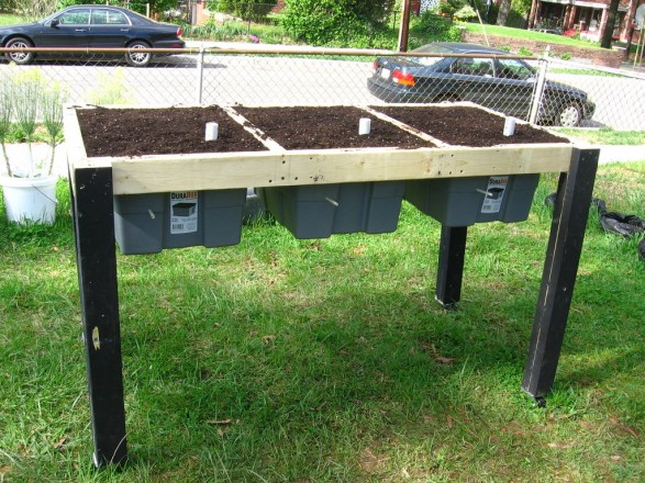 How To Make A Raised Garden Bed On Wheels