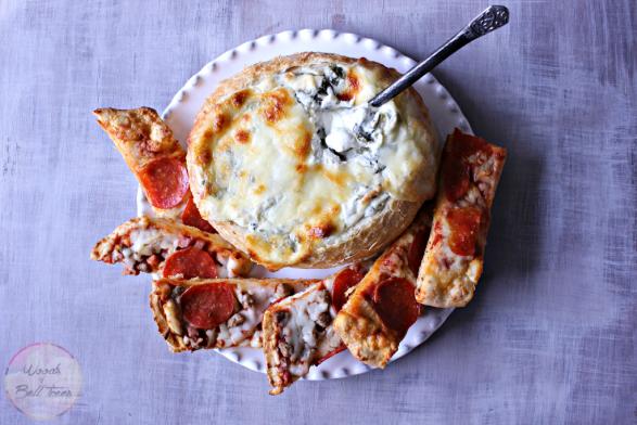 spinach artichoke pizza dip