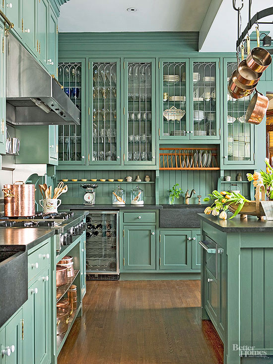Traditional Kitchen Using Copper