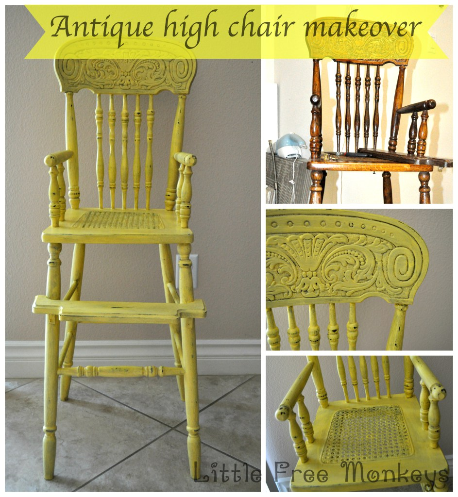 Antique-high-chair-makeover