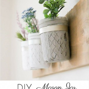 DIY-Rustic-Farmhouse-Mason-Jar-Planter