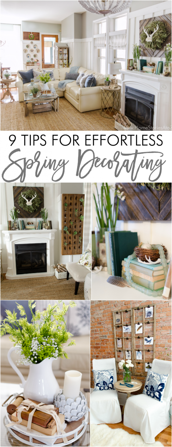 Great tips for effortless spring decorating