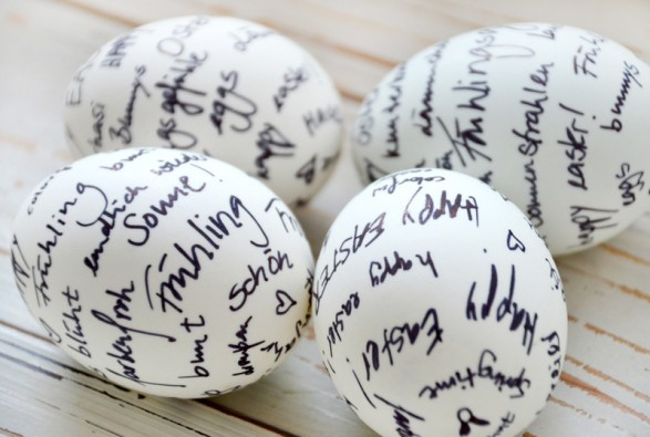 Hand Written Easter Eggs