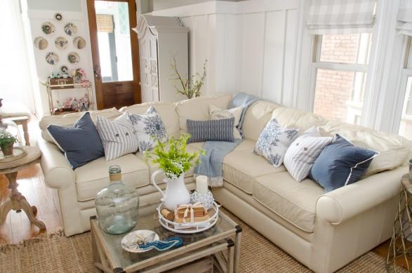 Living room for spring