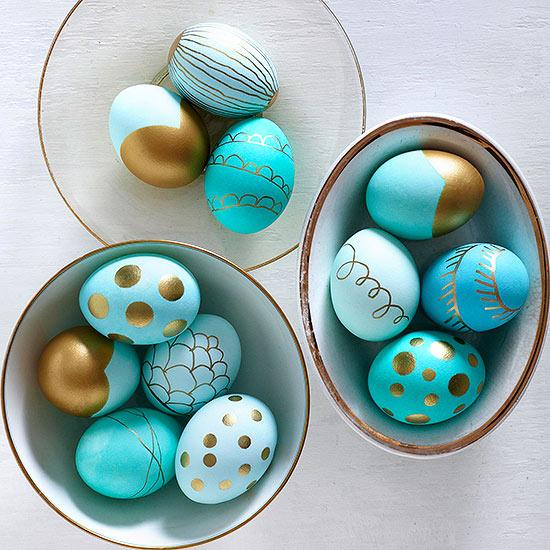Paint pen easter eggs