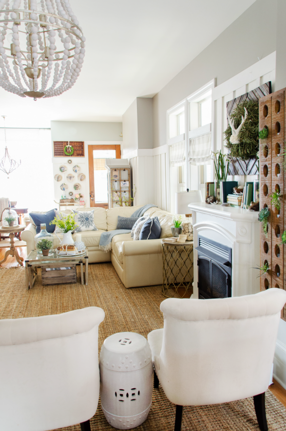 Spring family room decorating ideas