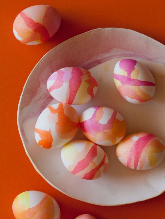 Watercolor Dyed Easter Eggs