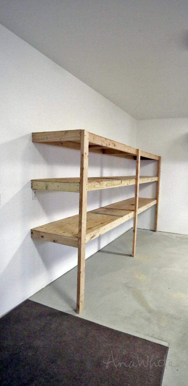 garage shelving DIY