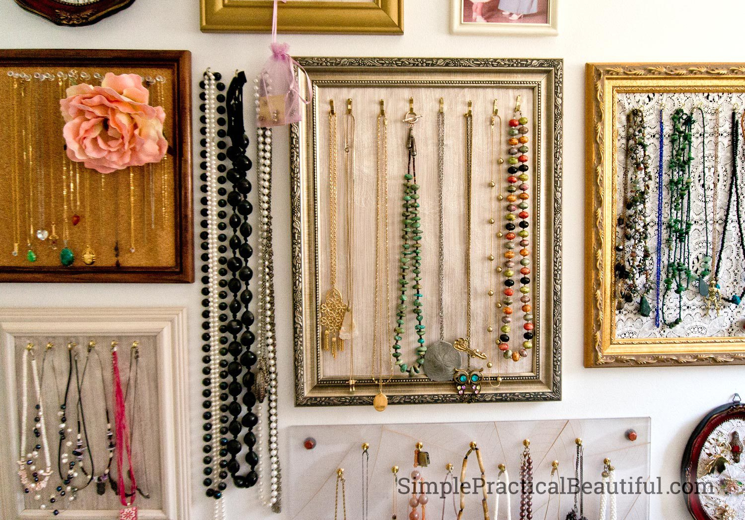 jewelry gallery wall