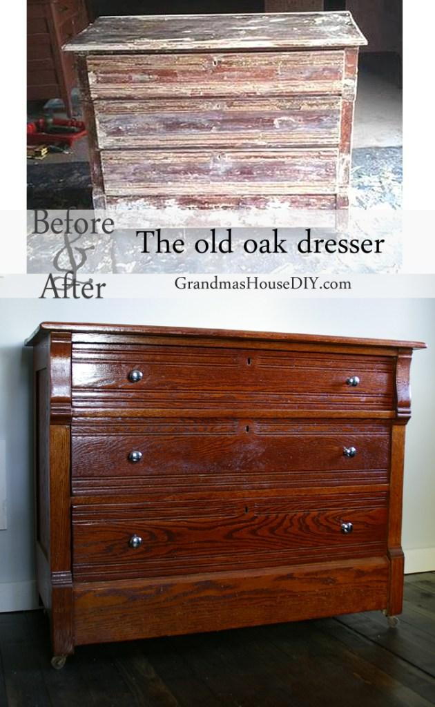 oak dresser restoration