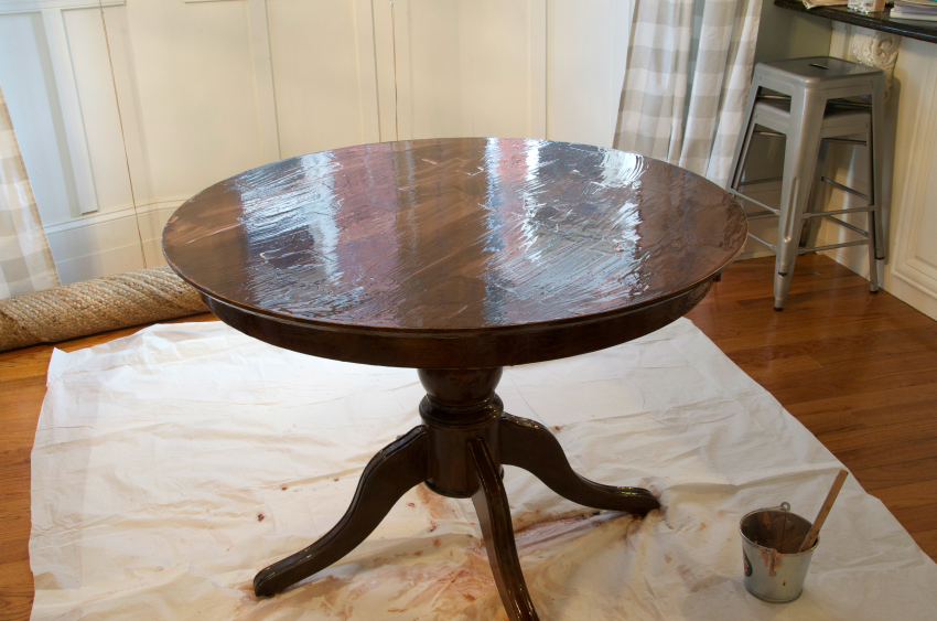 refinish table