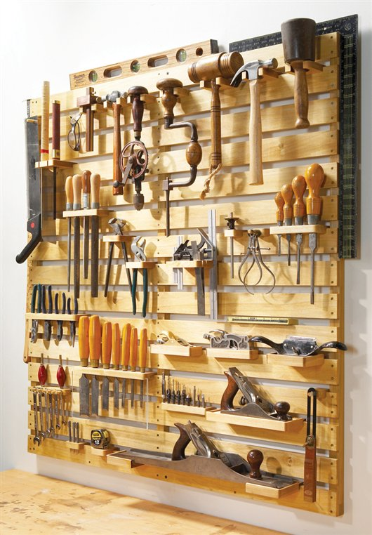 DIY Hold Everything Tool Rack Organization