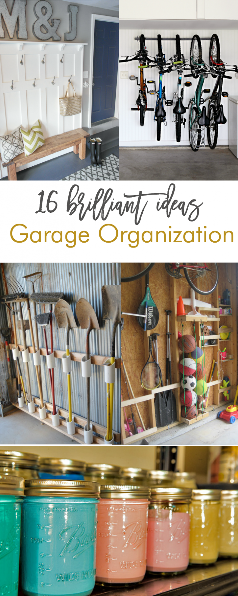 Galvanized Walls with PVC Pipe Tool Storage & 16 Brilliant DIY Garage Organization Ideas