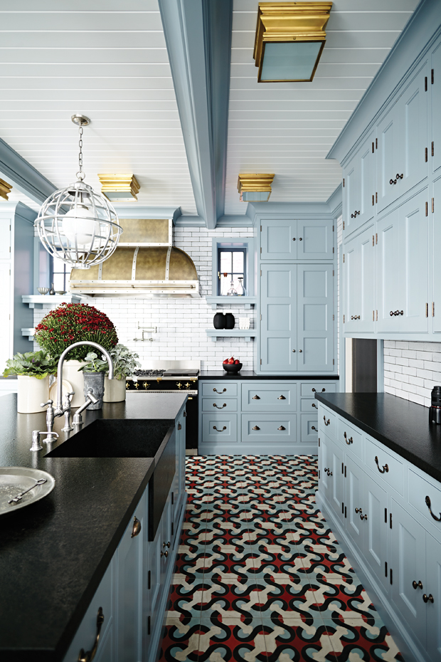 Jennifer Lopez Robins Egg Blue Kitchen Cabinets Image Via Koket 5 James Davie Toronto Home