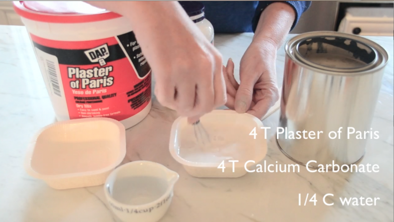 DIY Chalk Paint Recipe Plaster of Paris
