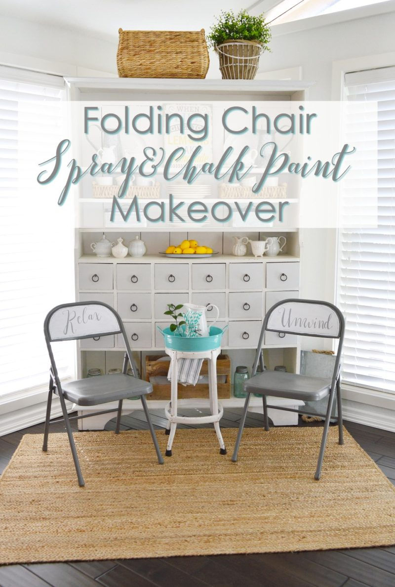 How to paint a vintage buffet home stories a to z - Folding Chair Spray And Chalk Paint Makeover
