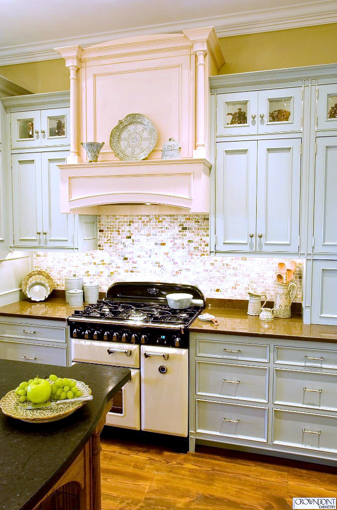 Crown Point Cabinetry Light Blue Cabinets