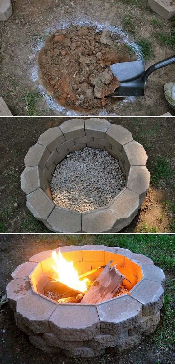 Backyard DIY Fire Pit