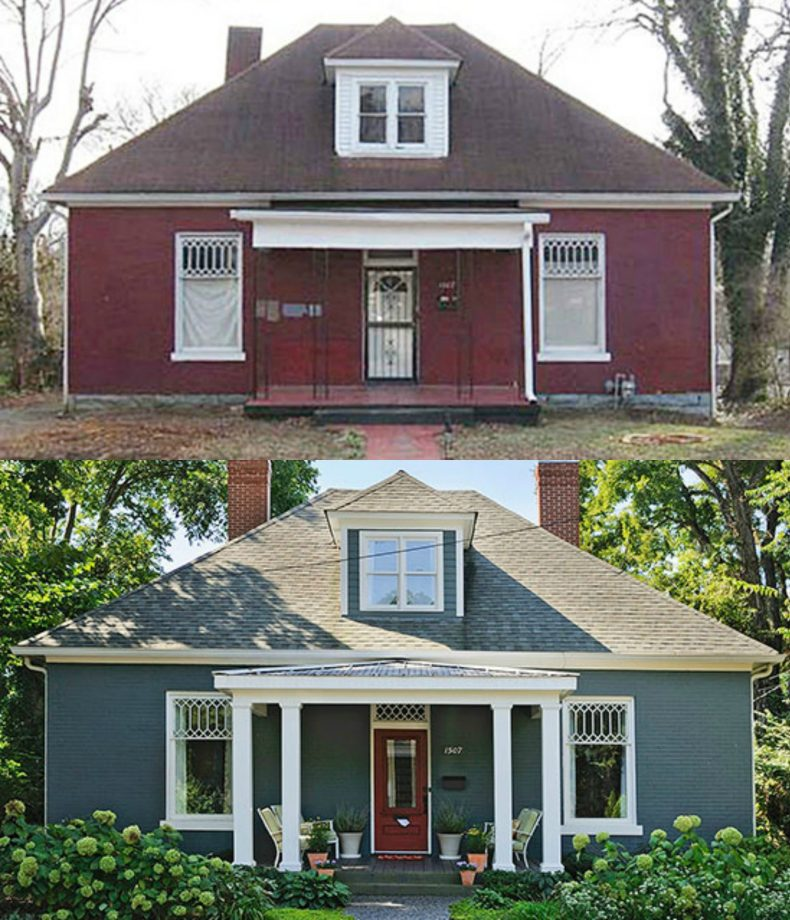 Ordinary Home Exterior Renovation Ideas Part - 14: Blue Cottage Renovation