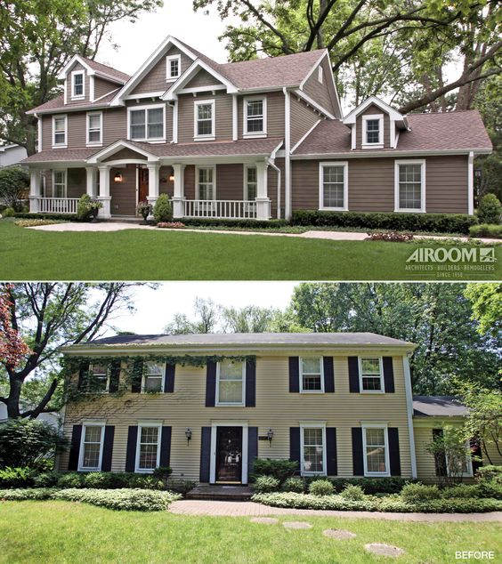 20 home exterior makeover before and after ideas for Before and after home exteriors remodels