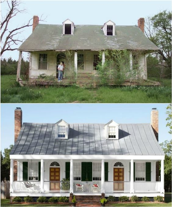 20 home exterior makeover before and after ideas home for Redesigning the front of your house