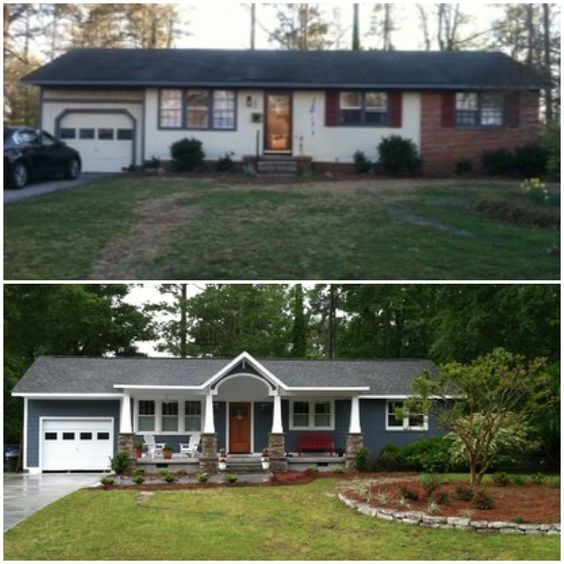 20 home exterior makeover before and after ideas home for Remodel outside of house