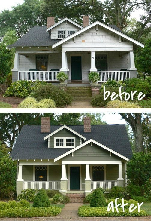 20 home exterior makeover before and after ideas home On before and after exterior home makeovers