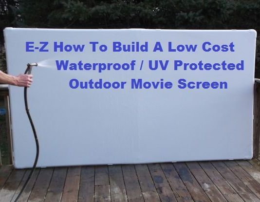 DIY Outdoor Screen