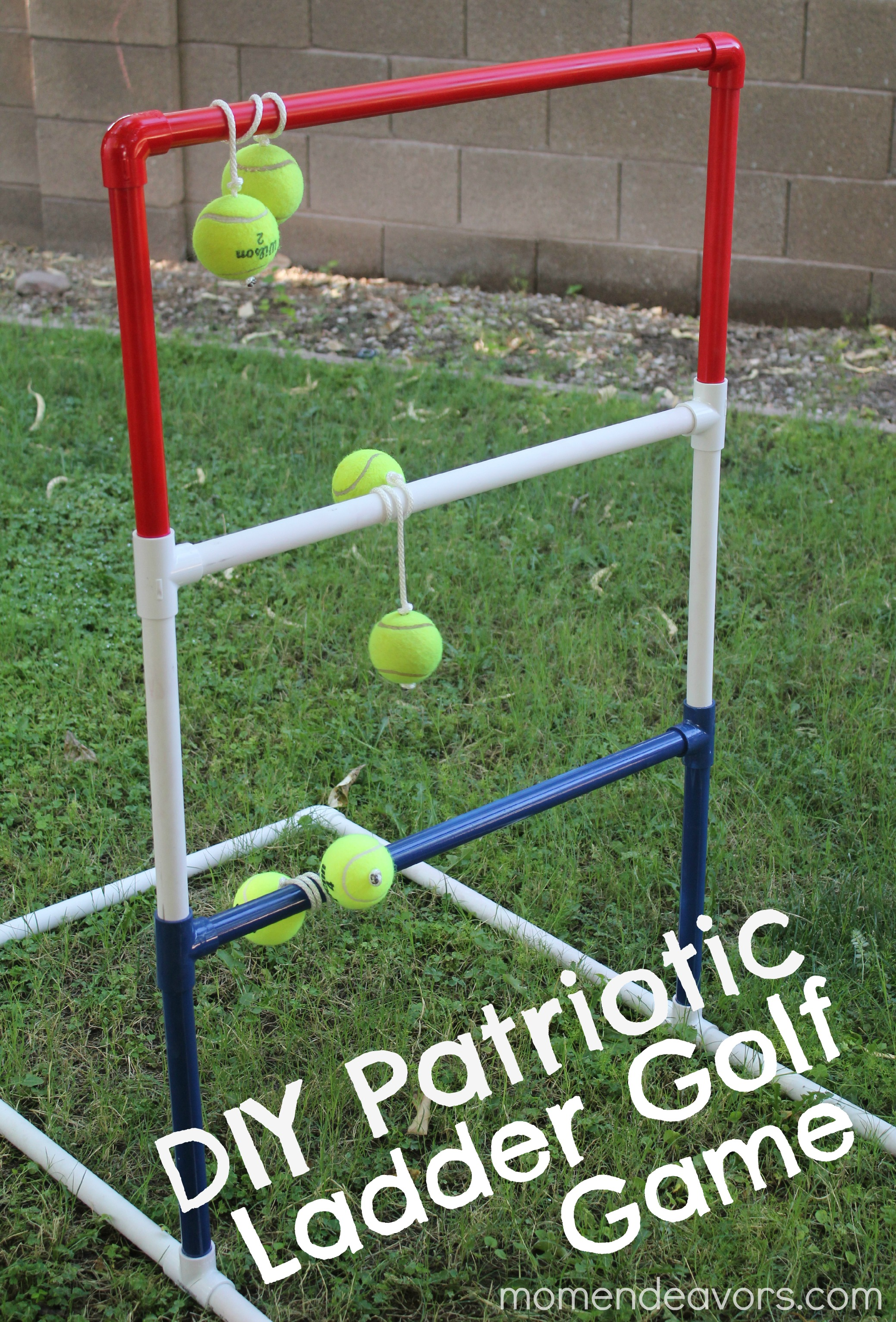 how to make a ladder golf game