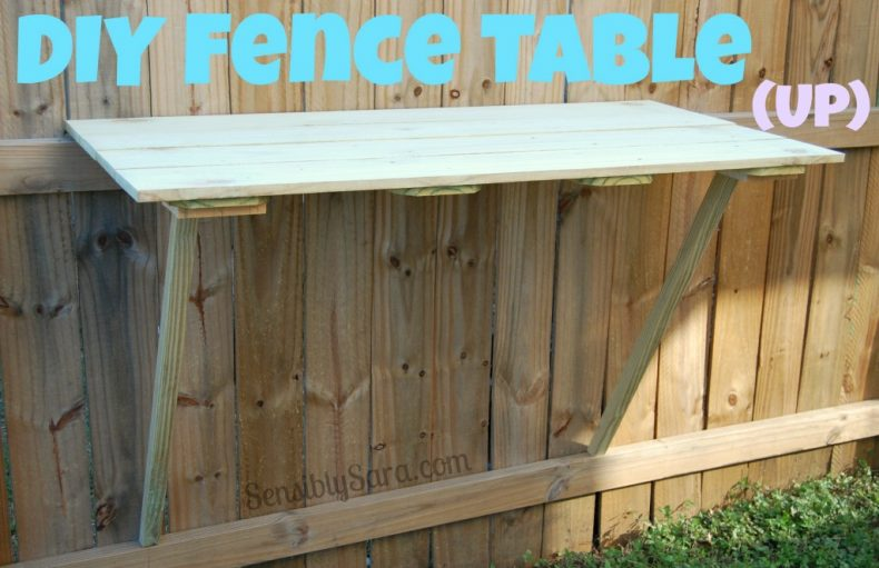 DIY Table Fence