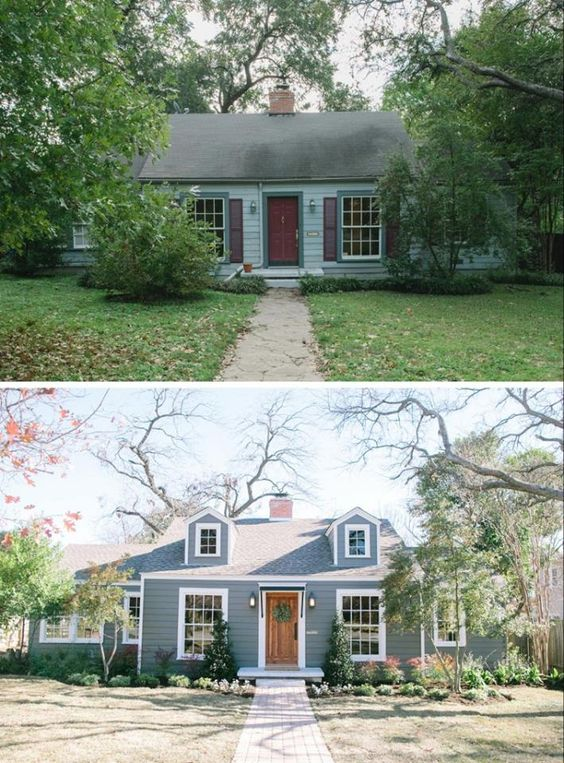 20 home exterior makeover before and after ideas home for Cape cod house renovation