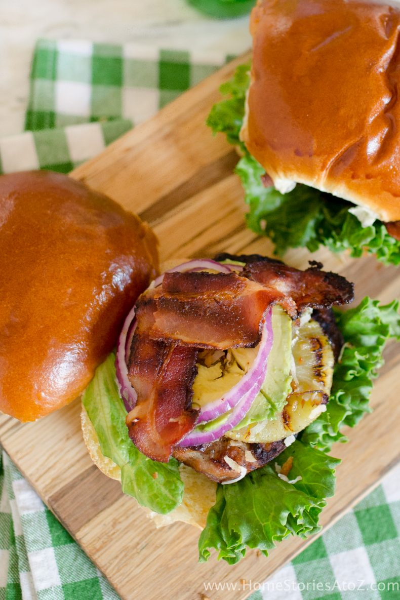 Hawaiian Sausage Burger Recipe