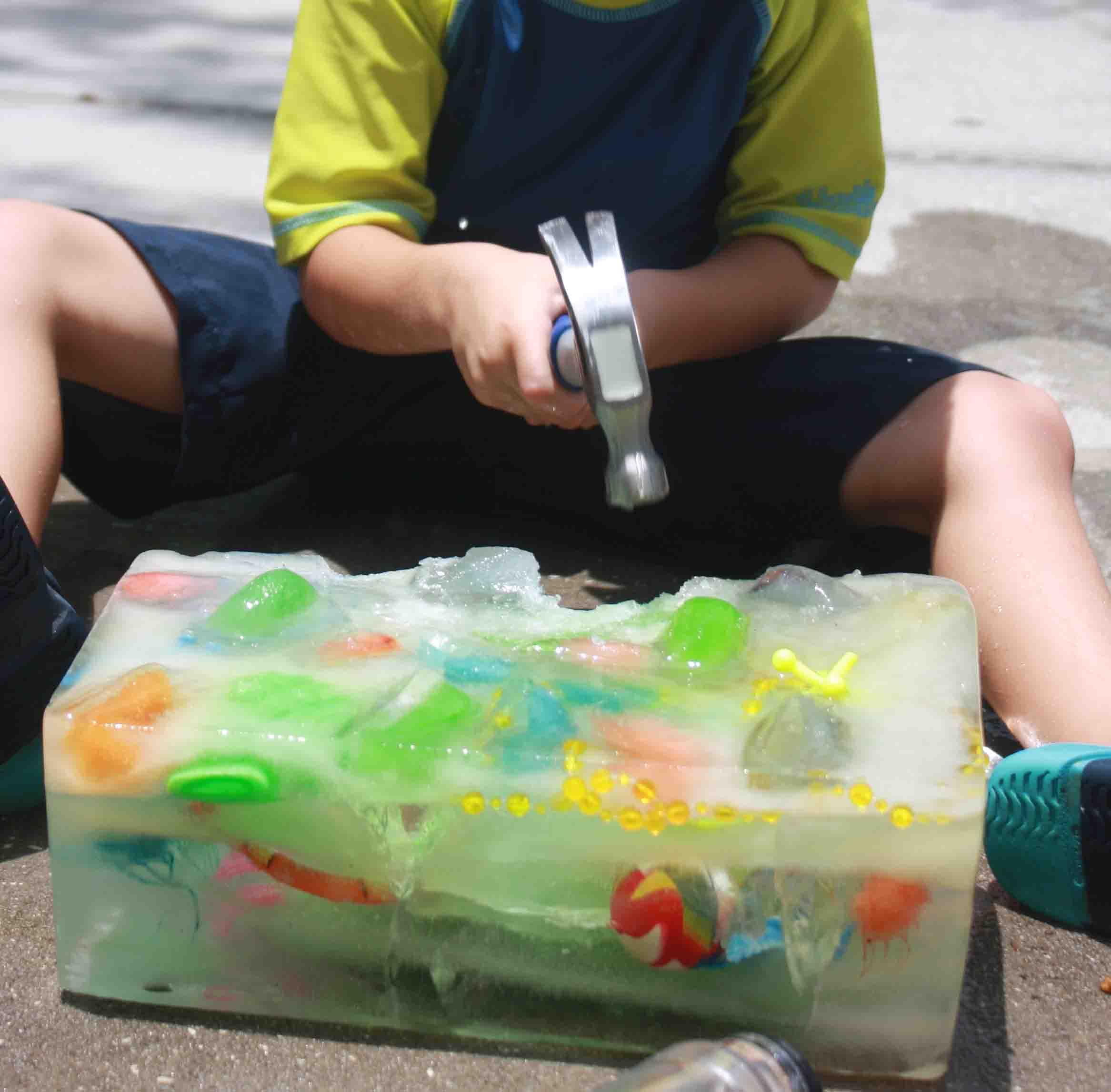 Keep them busy in the summer with this DIY ice block idea