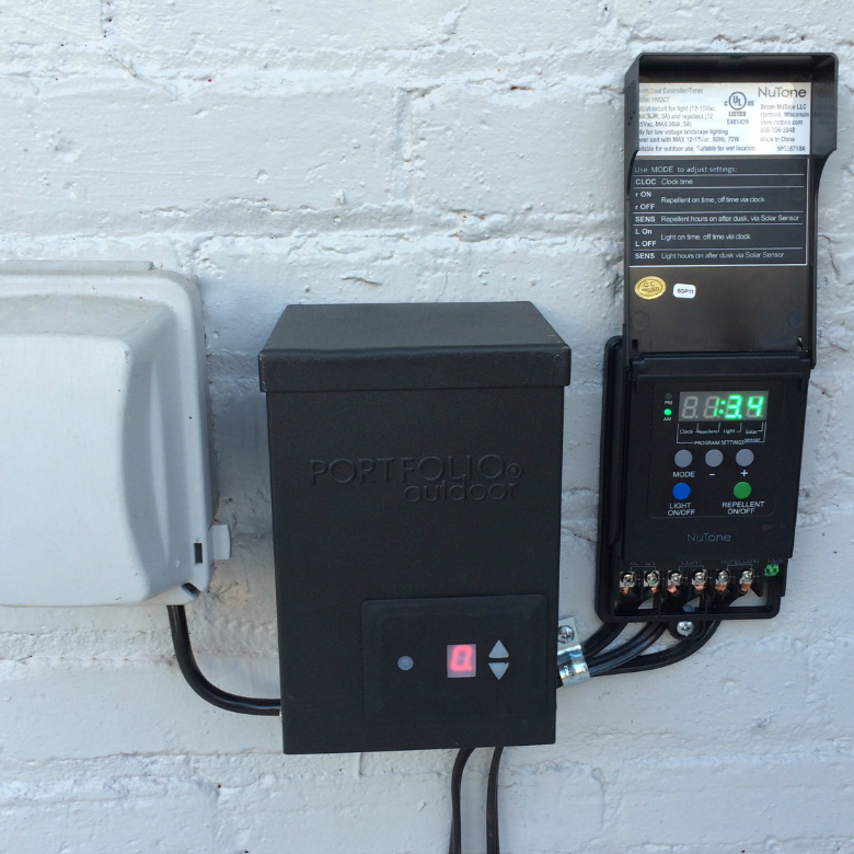 NuTone outdoor light controls
