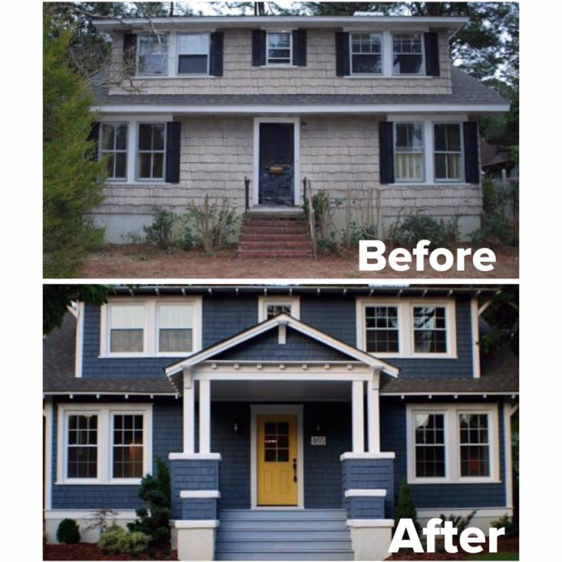 Dormer addition for Before after exterior 1930
