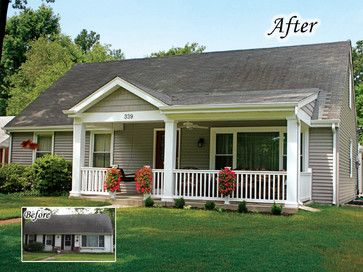 20 home exterior makeover before and after ideas home for Ranch style front porch
