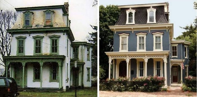 20 home exterior makeover before and after ideas home for Restoration house