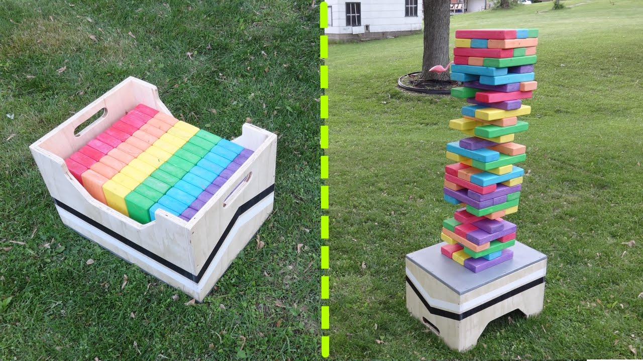 diy backyard jenga tutorial