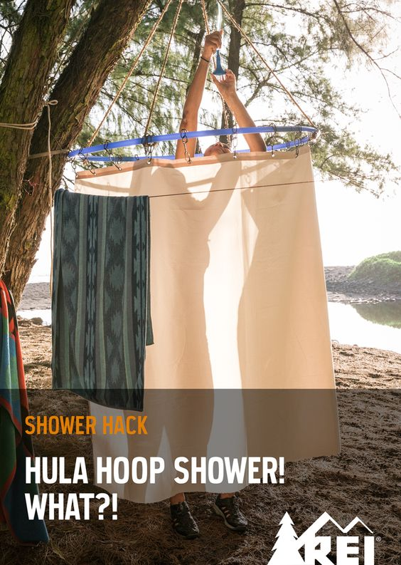 outdoor shower hack