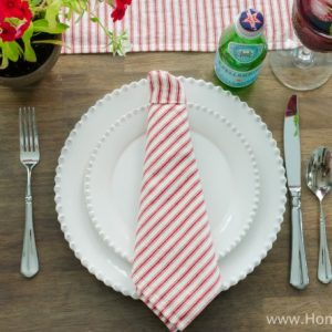 How to Fold Napkin Tie Father's Day