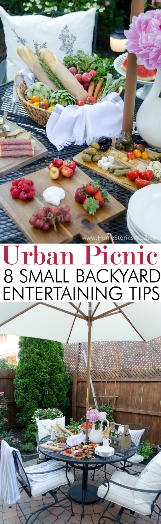 Urban picnic small backyard entertaining tips