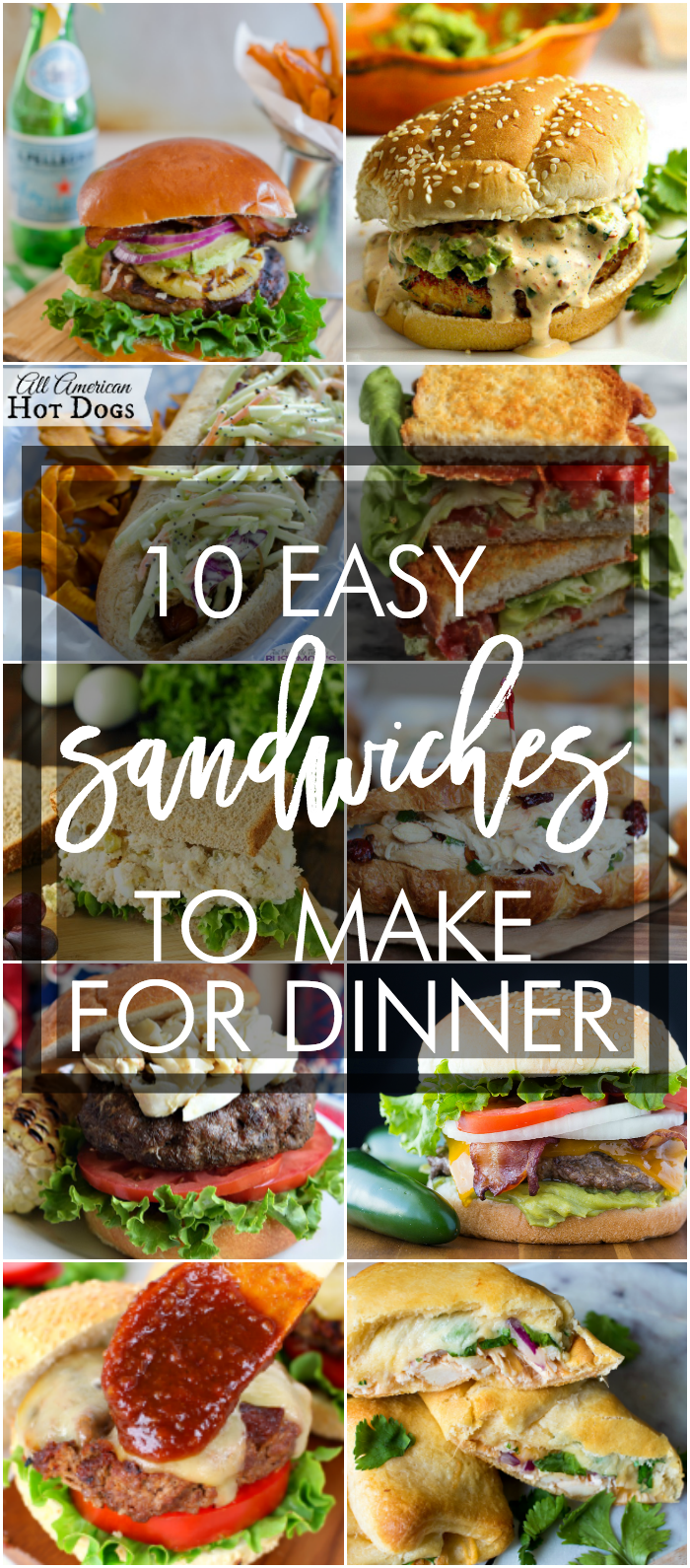 10 easy sandwich recipes to make for dinner. Simple sandwich ideas. Love these!
