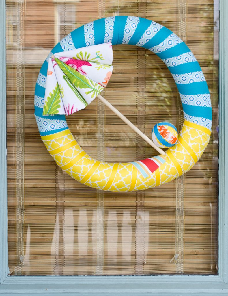 Beach Umbrella Wreath
