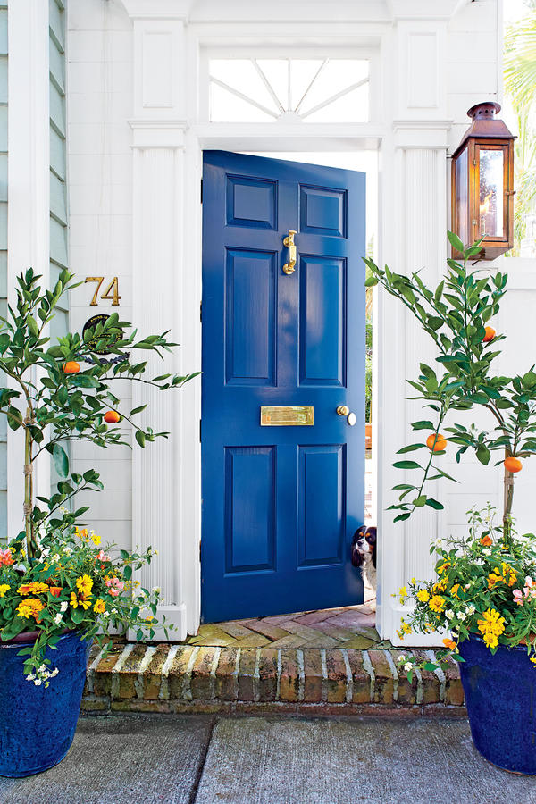 27 best front door paint color ideas - What color door goes with gray house ...