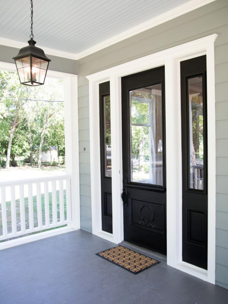 27 best front door paint color ideas home stories a to z for Front door with top window