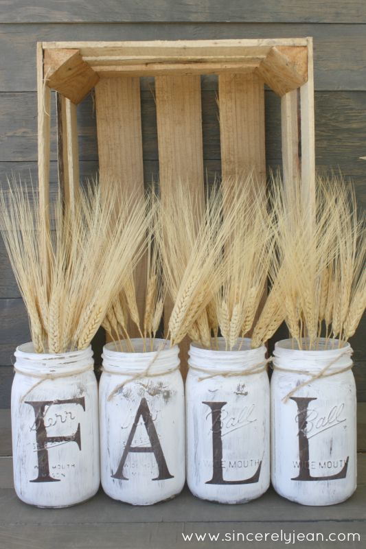 Fall Mason Jars Fall Craft