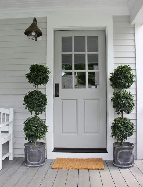 Sherwin Williams Colonial Revival Gray* & 27 Best Front Door Paint Color Ideas
