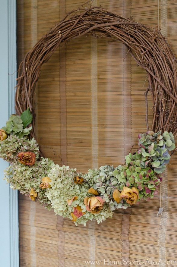 Hydrangea Wreath Home Stories A to Z
