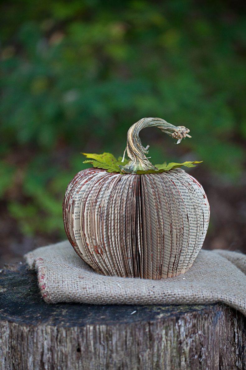 Pumpkin Book Art Fall Craft